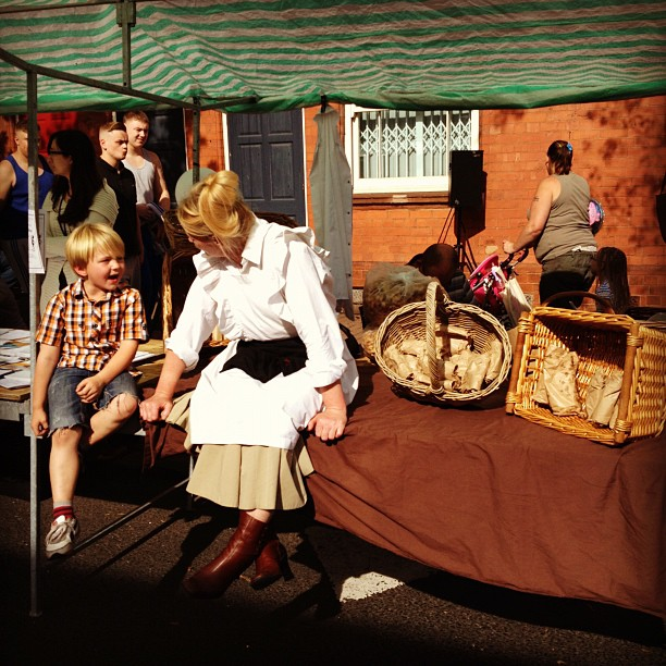 Pork scratching stall Netherton Street Party for @Multistory