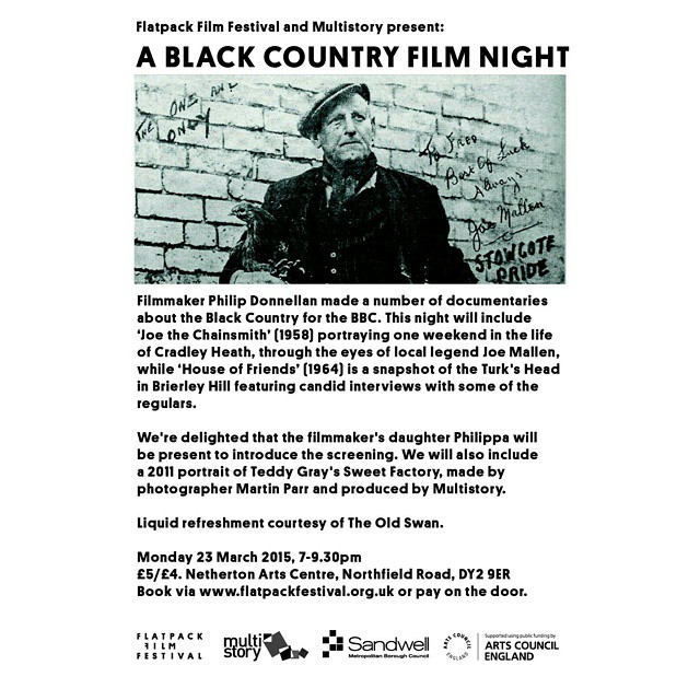 Black Country Film Night! Come and join us in celebrating film and the Black Country at this fantastic event. @flatpackfilmfestival