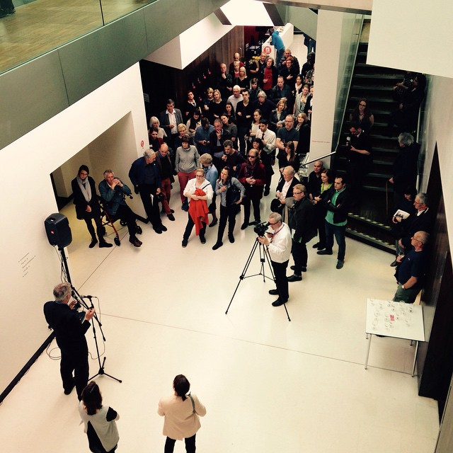 Great turn out at preview of Martin Parr's exhibition at Wolverhampton Art Gallery 22 May - 22 August.