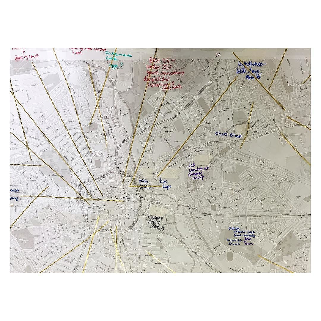 Mapping Wolverhampton with @sarahtaylorsilverwood and local women. @alexnelsonphoto in with @multistory