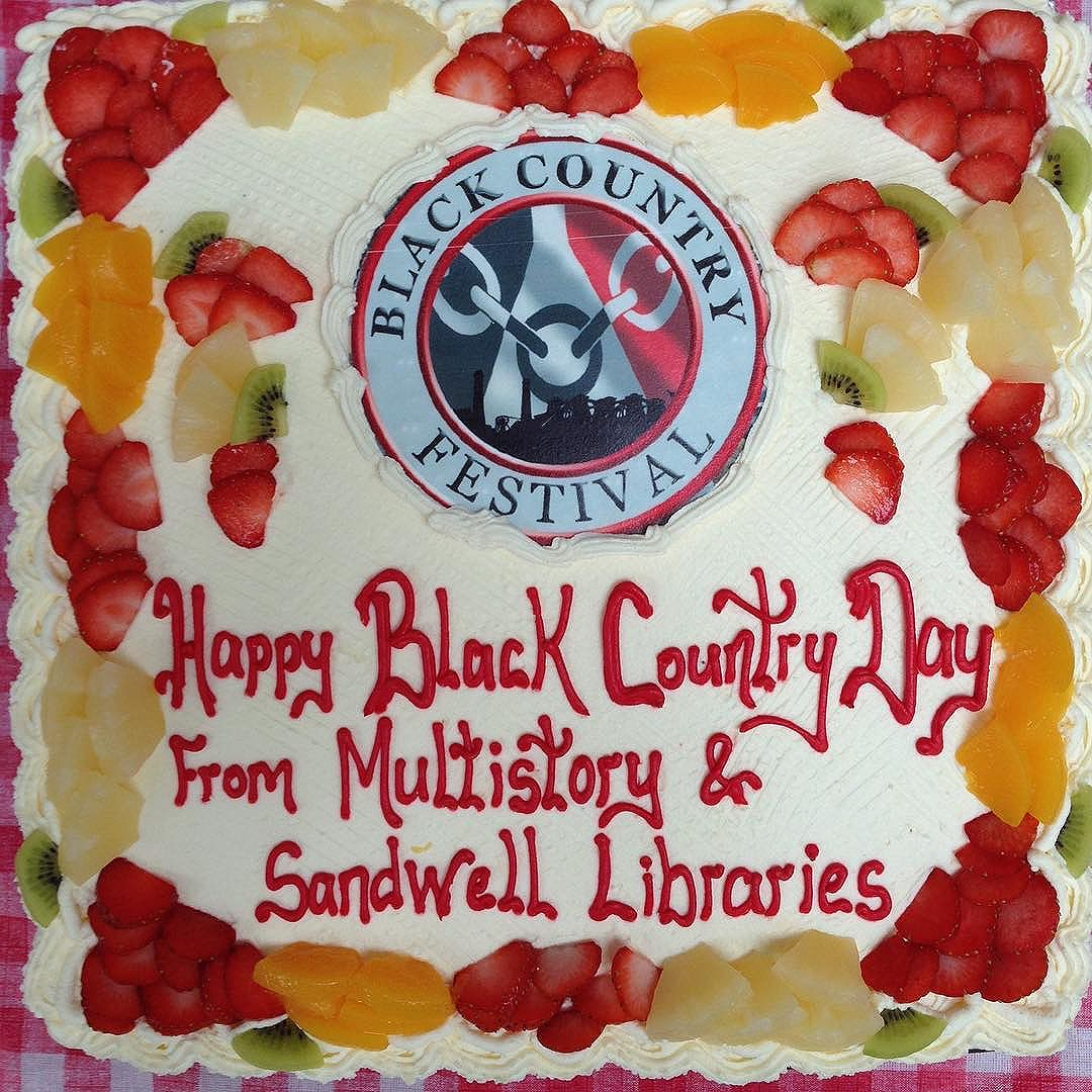 Happy from all of us @multistory & Central Library, West Bromwich. Join us for the results of Black Country 'bake off' (1.30pm), film screenings (2pm) and, of course, a slice of cake!