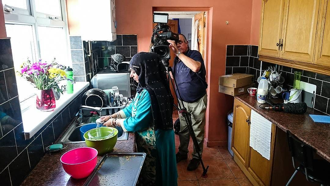 Filming with @bbcmtd and @satnamrana sharing our Liz Hingley 'Home Made in Smethwick' project.