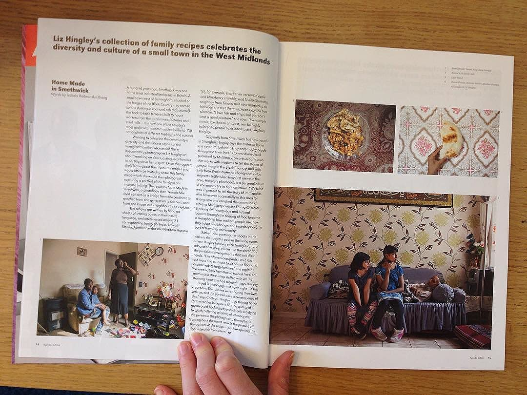 Great double spread in @bjp1854 about Liz Hingley's 'Home Made in Smethwick' project. 'Liz Hingley's collection of family recipes celebrates the diversity and culture of a small town in the West Midlands.' Words by Izabela Radwanska Zhang.