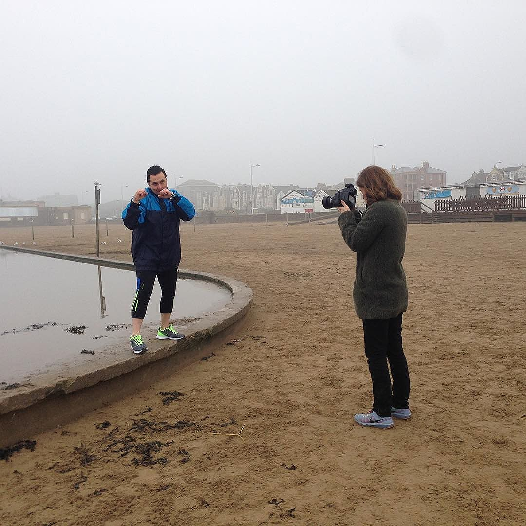 On the road in Weston-super-Mare with photographer @pollybraden for ongoing project.