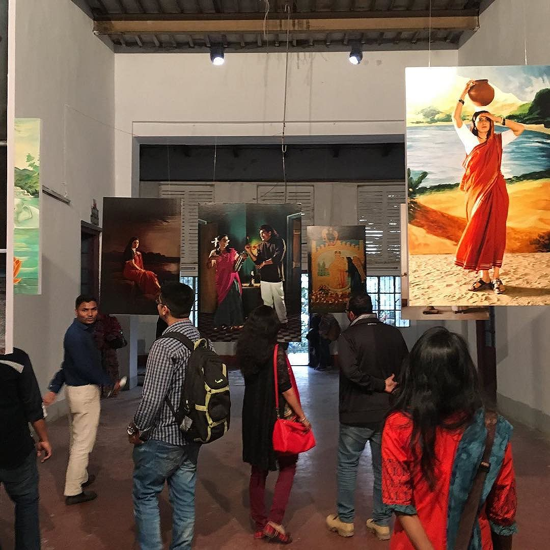 We loved 'Native Women of South India: Manners and Customs (2000-2004)', an exhibition by Pushpamala N in collaboration with Clare Arni at Balbul Academy of Fine Arts.  Day 2 @chobimela