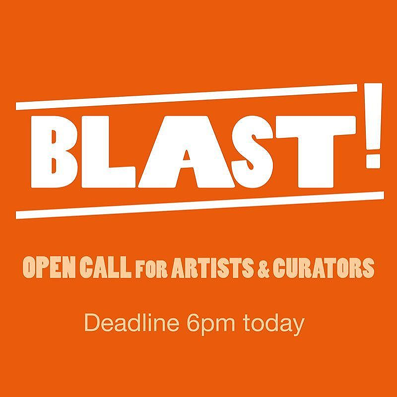 Deadline for #Blast!  West Midland's artists & curators - send proposals TODAY before 6pm  See link in bio for more info. . . . . . #Blast!